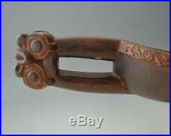 Fine Rare 19th century Carved Maori Canoe Bailer Oceanic Polynesian Art
