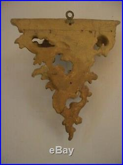Fine Rare Italian Water Gold Gilt Carved Wood Wall Bracket Shelf Exquisite
