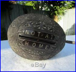 Fine & Rare Victorian South East Asian Carved Coconut Visiting Card Box