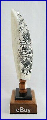 Fine Scrimshaw Hand Carved Maritime Folk Art by Paul Sheldon'07