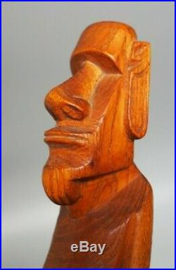 Fine Small Vintage Oceanic Polynesian Easter Island Carved Wooden Moai Figure