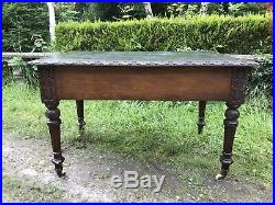 Fine Victorian Carved Writing Desk By Nelson London 1875