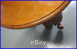 Fine Vintage Hand-Carved Elephant End Table by ENKEBOLL