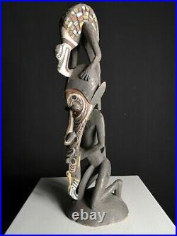 Fine Wapi Creation Myth Bird Totem, Black Water, PNG, Papua New Guinea, Oceanic