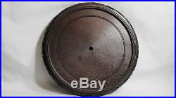 Fine Xtra Large Chinese Antique Carved Wood Stand Base Vase Bowl10 Lot# 605