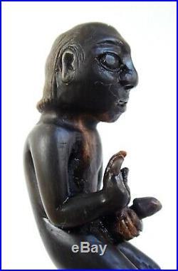 Fine antique Indonesian erotic carved horn betel crusher