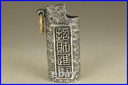 Fine silver 925 hand carved fortune unicorn statue pendant lighter shell gift