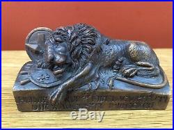 Finely Carved 19th Century Grand Tour Carved Wood Model Of The Lion Of Lucerne