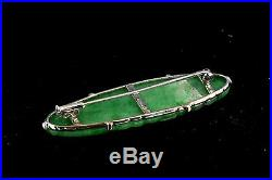 Finely Carved Chinese Apple Jade & 18 k Gold Brooch with Birds, Pea Pods & Flowers