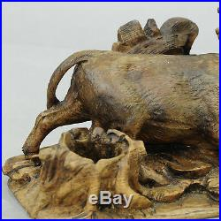 Finely carved statue of a bull ca. 1900