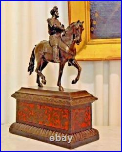 Henry IV of France 19th Century Very Beautiful Bronze Finely Carved