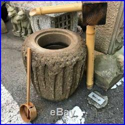 Japan Fine Old Hand-Carved Tsukubai Water Basin Planter