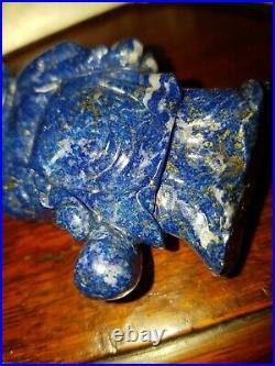 Lapiz lazuli Buddha Carving 846cts very fine carving antique collectors item