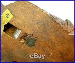 Large 1888 Black Forest Finely Hand Carved Wooden Hunter Fox whip holder
