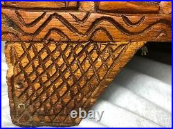 Large Fine Vintage 1970's Chinese Tribal Camphor Wood Carved Chest Coffee Table