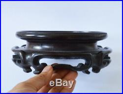 Large Finely Carved Antique Chinese Hardwood Vase Stand China