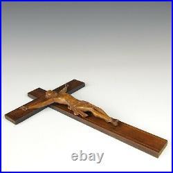 Nice fine carved wooden corpus Christi, 19th century