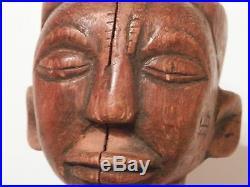 OLD AFRICAN NUDE Fine Primitive Folk Art WOOD SCULPTURE original artwork vintage