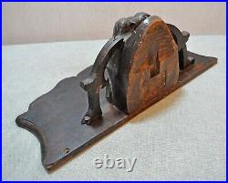 Original Old Antique Very Fine Hand Carved Wooden English Wall Shelf