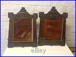 Pair Antique Finely Carved Nouveau Picture Frames by Austrian Master Leo Garreis