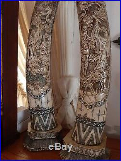 Pair, Rare Chinese Finely Carved 30 Inch statue. Estate treasures Find