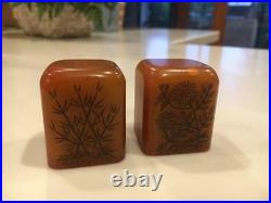 Pair of Fine Chinese Carved Shoushan Seals