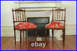 Pair of French Antique Louis XVI Style Finely Carved Wood Chairs