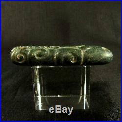 Pre-Columbian Mayan Carved Jade Pendant Very Fine Piece