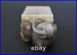 Qing Dynasty 18th 19th Century Chinese Finely Carved Mythical Beast Jade Seal