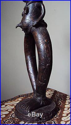 RARE FINE 24 BRONZE BAKOTA FEMALE RELIQUARY African Carving