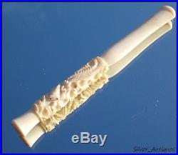 Rare Fine Quality Edwardian Chinese Dragon Carved Ladies Cigarette Holder