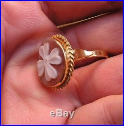 Ring Beautiful Loose Antique Victorian Finely Carved Shell Cameo Size 7