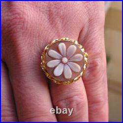 Ring Beautiful Loose Antique Victorian Finely Carved Shell Cameo Size 7,5