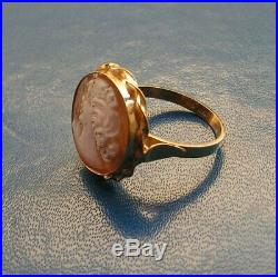 Ring Beautiful Loose Antique Victorian Finely Carved Shell Cameo Size 8,5