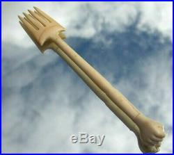Stunning Extremely Rare Fine Quality Georgian Carved Clenching Hand Fork 1800