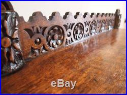 Table hall lamp console fine Victorian carved Oak c1890