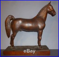 Two Very Finely Carved Wooden Horses Folk Art Kinstler H. A. Provenance