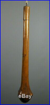 V FINE ANTIQUE KANAK NEW CALEDONIAN CARVED WOODEN TRIBAL WAR CLUB w GREAT PATINA