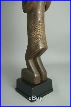 V Fine Lwena Carved Wooden Female Figure Chokwe Angola African Tribal Art Nr