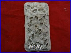Very Fine Antique Chinese Canton Hand Carved Card Case