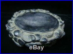 Very Fine Antique Chinese Duan InkStone Hand Carving Mushrooms Ink Slab