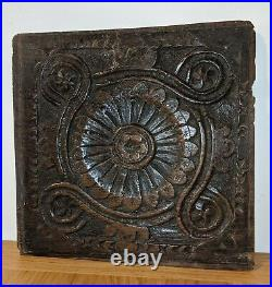 Very Fine Charles I West Country Carved Oak Flower Panel circa1630