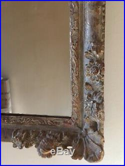 Very Fine French 17th Century Louis XIII / XIV Carved Flower Corner Frame