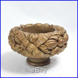 Very Unusual Finely Carved Wood Archetectual Fragment Gilt Compote