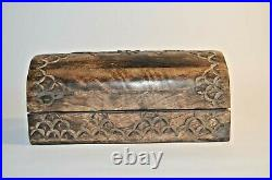 Vintage Antique Old Wooden Hand Fine Carved Beautiful Boxes, 2 Pcs