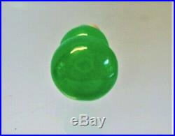 Vintage Chinese imperial green glassy jadeite pendant fine carved double gourds