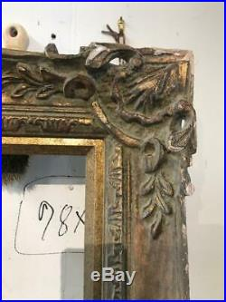 Vintage Fine real wood carved guilt frame antique gold leaf